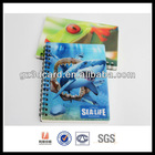 Amazing 3D effect hard cover Spiral Notebook of animal design