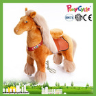 PonyCycle Plush horse ride on toy large plush horse toy for 4-10 kids