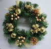 Decorated Golden Wreath