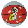 3# rubber basketball , design as requested