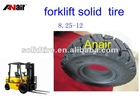 Air free forklift rubber tire/ vulcanize industrail loader solid tire