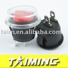 Round rocker switch KCD1-105 red with water proof