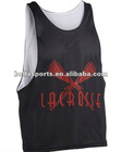 Customized Newest 100% Polyester Nylon Tricot Mesh Lacrosse Vest.