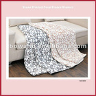 polyester baby knit pebbles printed polar fleece blanket