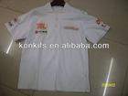 100%cotton racing polo t shirt