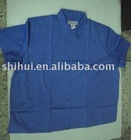 Cotton twill blouse with plain dyed