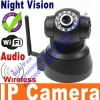 Black Wireless WIFI IR LED IP Camera Nightvision 2-Way Audio