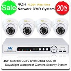 Surveillance CCTV System Mini 4CH H.264 Standalone DVR, 4X IR Day/Night CCD Dome Camera