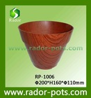 imitation wood biodegradable flower pots