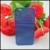 0.3mm Ultrathin Titanium Mesh Metal Back Snap-on Case Cover for Apple iPhone 5 Generation - Blue