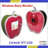 Hot Sale! Apple Shape Mini Digital Baby Monitor, 2.4GHz Wireless Night Vision Baby Monitor