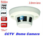 CCTV Security HD 700TVL Sony Effieo-E Smoke Detector Covert Camera hidden 3.6mm Board Digital WDR (ATR) OSD 2D DNR