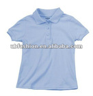 short sleeve school uniforms shirt with T/C pique fabric