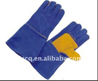 14 inch/16 inch blue color cowhide welding glove