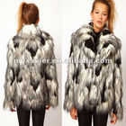 Junkfood Pearl Faux Notched Lapels Fur Jacket Women