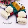 Fashion Flanging Knitted Half-finger Gloves