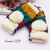 Fashion Flanging Knitted Half-finger Gloves