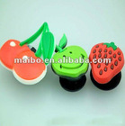 Fruit shape shoes buckle plastic shoes accessory
