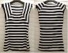 2012 fashion lady stripe t shirt