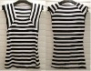 2012 fashion lady stripe t shirt