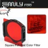 Square Color Filter Full Color Red for Cokin P Series