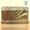 Metallic/metal Card Making with Golden colour