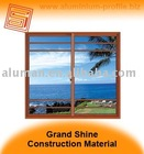 Residential sliding aluminum window