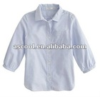 School Uniform Girls Classic Point-Collar Shirts