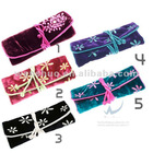 New Style Flower Embroidery Jewellery Roll