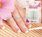 french nail art sticker