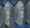 Galvanized diamond mesh fence
