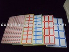 color blank checked label paper sticker
