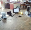 portable mini solar generating set-portable DVD+fan+3W LED light