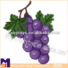 embroidered grape patches,kid clothing shoes toys embroidered badges