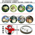 8-style Tinplate steel TOTORO anime badge and brooch