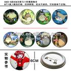 8-style Tinplate steel TOTORO anime badge and brooch