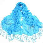 Leisure polyester rhineston women's scarf scarves