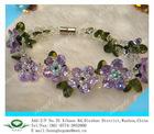 2012 new design fashion emerald cubic zirconia jewelry bracelets