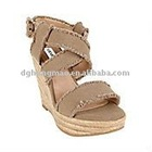 CANVAS HIGH WEDGE SHOES