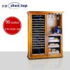 SHENTOP high quality humidity control 96 bottles 800 wine cellar and electric cigar humidor combination cabinet STH-D3-100