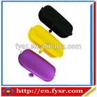 Portable fashion silicone glasses case
