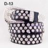 fashion belt with rhinestone