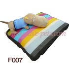 F007 Stripe with Color Color 63*50*8 CM Rectangular Shape Pet Beds Pet Products MOQ is 1000pcs Drop Shipping
