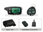 Two way car alarm with security system auto alarm with shock sensor