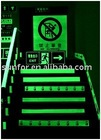 Customized photoluminescent exit sign without electricity