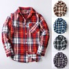 Comfortable boy child plaid dress t shirts