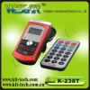 smart remote control fm transmitter with lcd screen