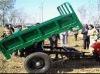 single axle with 2 axles mini farm trailer