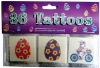 EN71 Passed Kids Cartoon Temporary Tattoo Pack