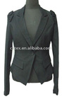 2011 fashionable ladies fitted formal blazer with shoulder decoration, style no. C JACKIE
